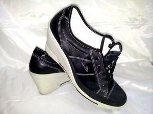 Aimable Sneakers Donna Nero Zeppa Strass Brillantini Scarpe Woman Shoes 39 Made In Italy Performance Fiable