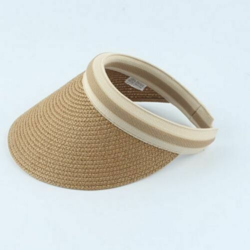 Women/'s Sun Hats Handmade Straw Parent-Child Summer Empty Beach Visor Caps