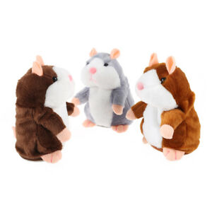 Cute Christmas Gift Electric Talking Plush Cartoon Hamster