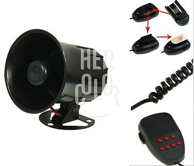 12V 50W Loud Siren Horn PA for Car Van Truck Motorcycle with 7 Sounds