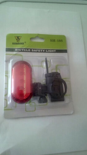 Rear Bicycle Safety Flash Light Bright Battery Cycling Reflectors UK Stock