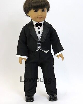 18 inch Girl Boy Logan Doll Clothes Shoes Black No tie sneakers American seller
