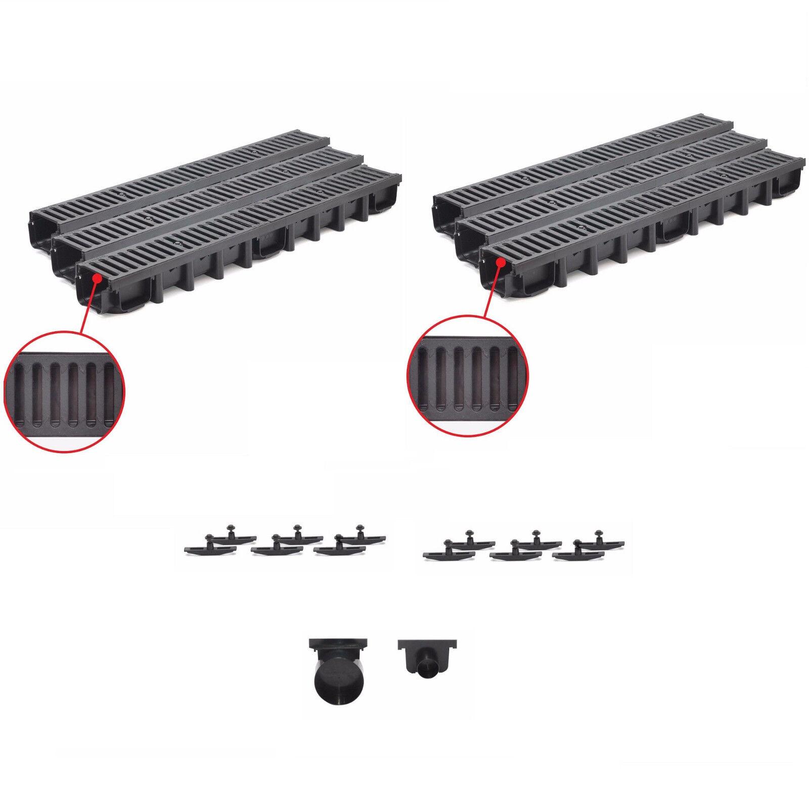 6 m Entwässerungsrinne mit Gussrost PKW befahrbar bis 12,5 t Komplett Set
