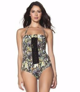 NWT Agua Bendita Small African Valley Cheetah Festival One-Piece Swimsuit $247