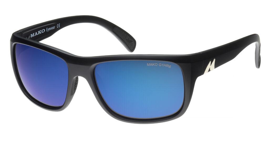 Mako APEX - bluee Glass Mirror Sunglasses Polarised 9601 + Free Shirt + Warranty