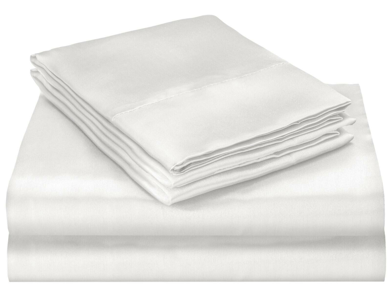 Queen Size Satin Bed Sheet Set