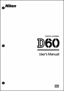 nikon d60 user manual guide instruction operator manual ebay rh ebay com nikon d60 guide pdf nikon d60 instruction manual english
