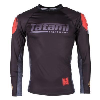 Tatami Japan Koi Carp BJJ Rash Guard Long Sleeve MMA Compression Mens Jiu Jitsu