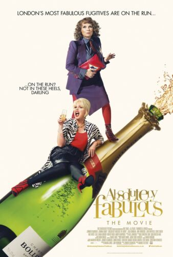 ABSOLUTELY FABULOUS MOVIE POSTER FILM A4 A3 ART PRINT CINEMA WHITE