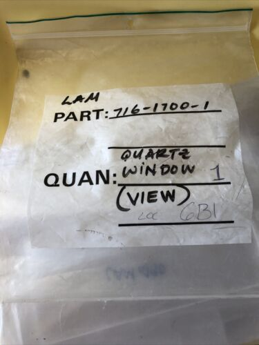 "Lam Research 490 Quartz Window 7 3//4""x 2""x 1//4"""