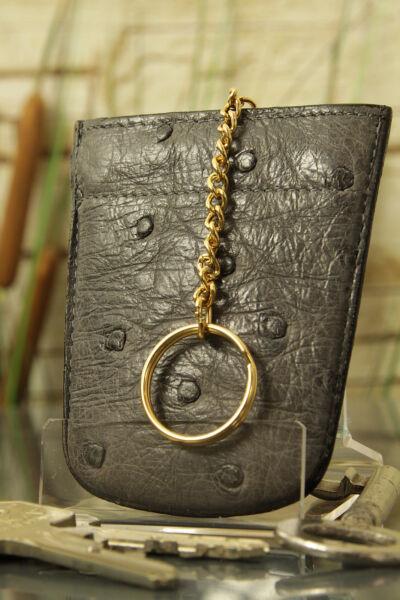 """""""artiglio"""" Astuccio Chiave, Gli Struzzi-pelle. Key Case, Ostrich-skin, New! ü3032-. Key Case, Ostrich-skin, New! ü3032"""