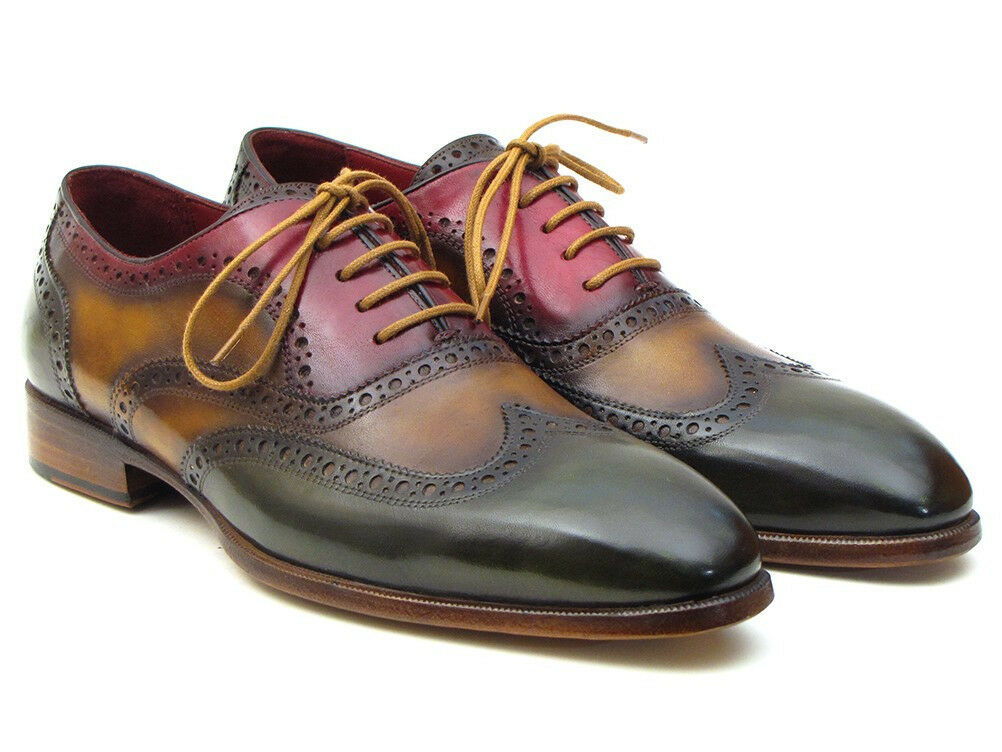 Paul Parkman Three Tone Wingtip Oxfords (ID PP22F75)