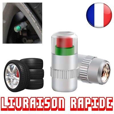 4 Pcs Capteur Pression Pneu Moniter Valve Auto Moto Indicateur Car Jauge Voiture