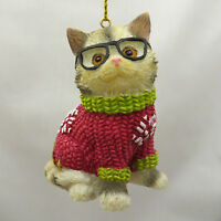 Roman, Inc. 3 Hipster Kitten Ornaments, Choose Your Style (30663)