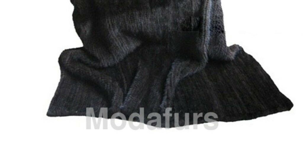Brand New Knitted Mink Fur Blanket Rug Throw Bedspread