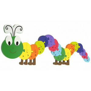 Orange Tree Toys Wooden Alphabet Caterpillar Puzzle Letters