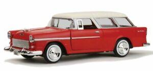 CHEVROLET Bel Air Nomad - 1955 - red / cream - MotorMax 1:24