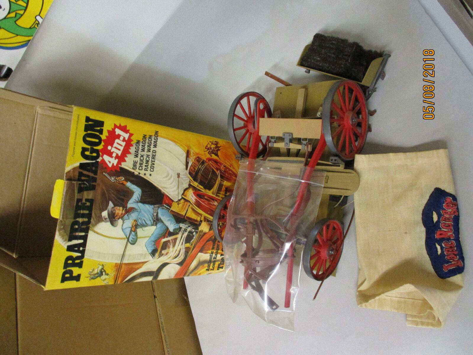 The Lone Ranger - Marx Toys -  Prairie Wagon - Lone Ranger