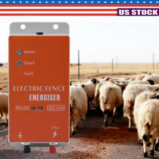 12 10km Electric Controller Fence Energizer Charger For Animals Sheep Poultry