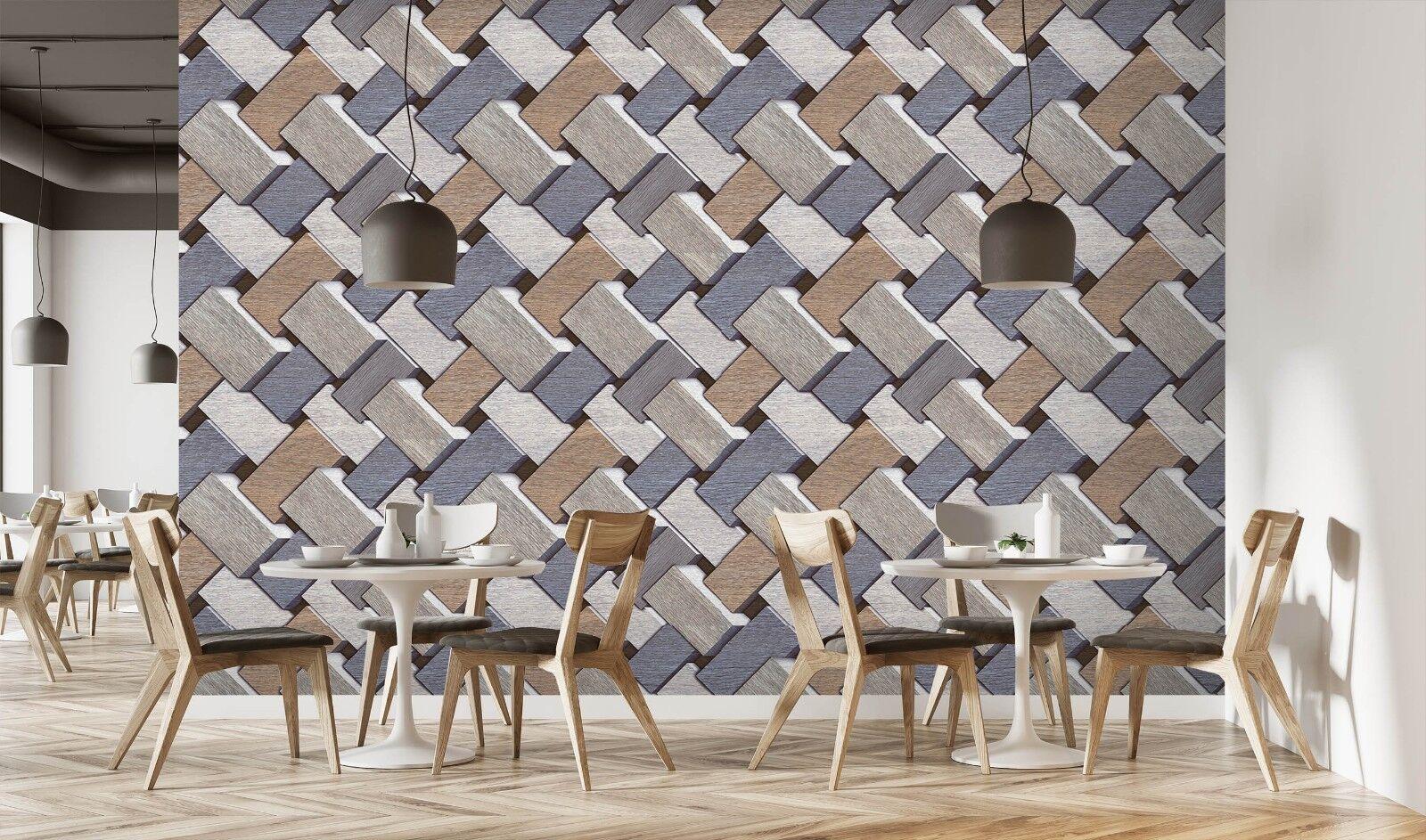 D fibbia in legno texture piastrelle marmo carta muro carta