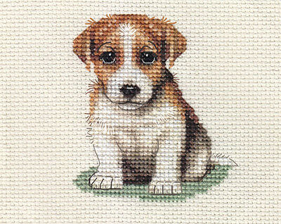 JACK RUSSELL TERRIER dog, puppy ~  Full counted cross stitch kit + all materials