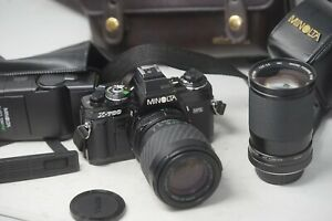 Camara-SLR-Minolta-X-700-de-pelicula-35mm-Lentes-Vivitar-28-85mm-amp-Sigma-70-210mm