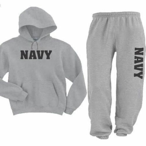 3XL Asst Hooded  United States Navy Hoodie Sweatshirt And Sweatpants SM color