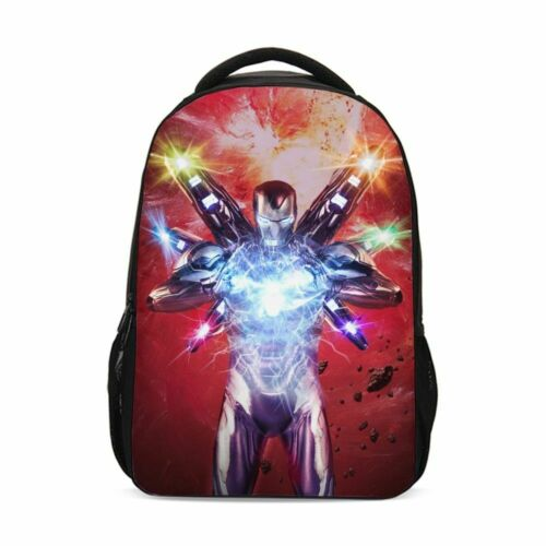 IRON MAN Avengers Superior Students Big Backpack Cross Body Bag Pencil Case Lot