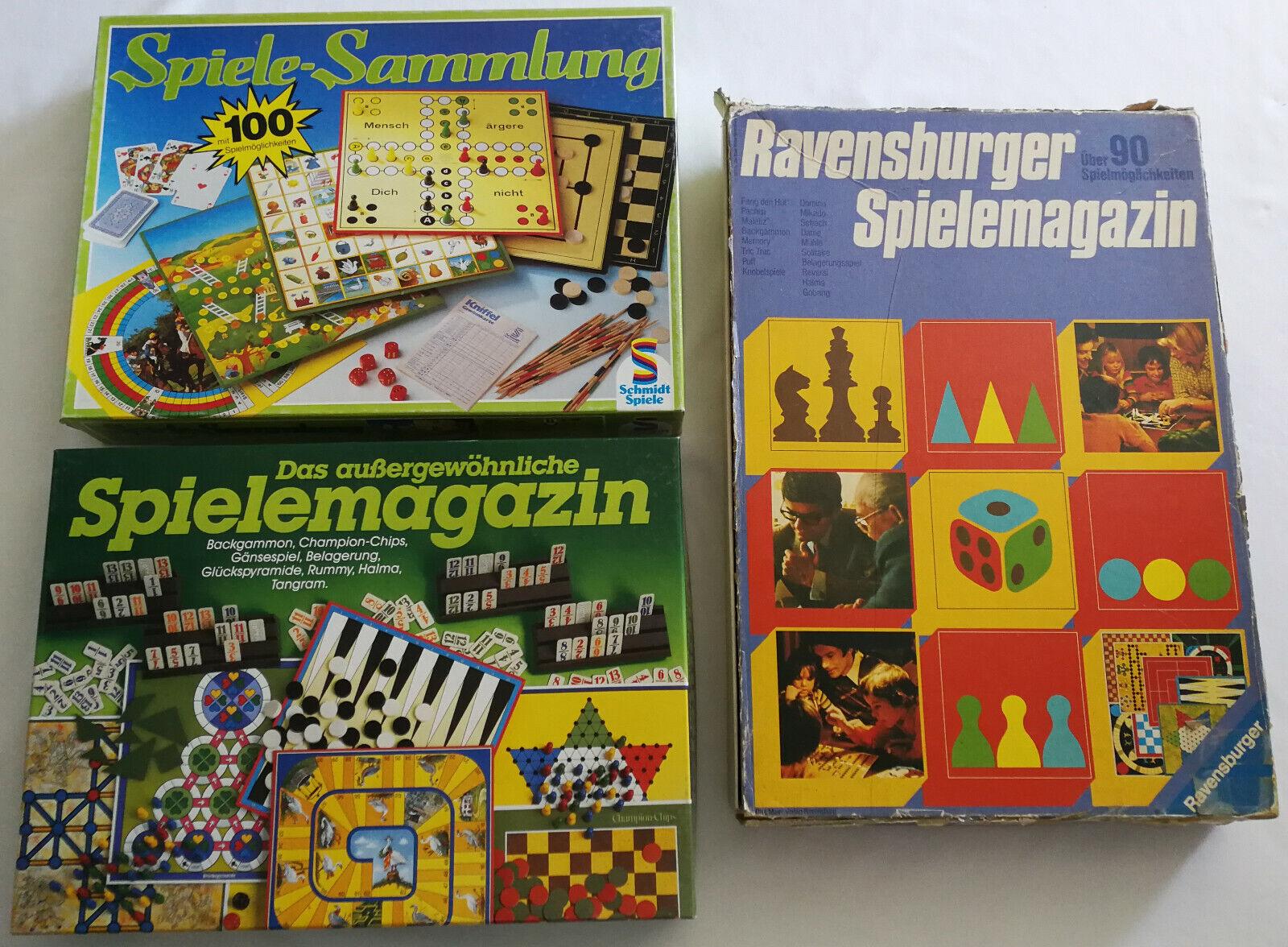 3x juegos-Colección  Schmidt juegos Ravensburger excepcionales juegos revista