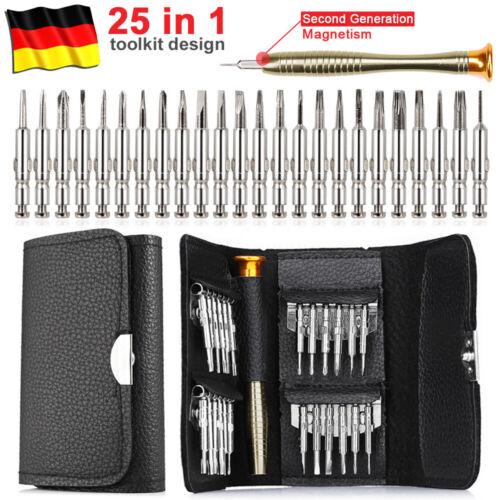 25 In 1 Schraubendreher Werkzeug Schraubenzieher Bit Satz Mini Tasche Uhrmacher