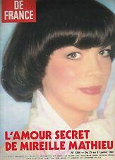 Jours de France N°1386 du 25 juillet 1981 Mireille Mathieu Sylvia Kristel