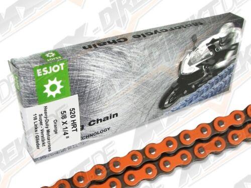 ESJOT 520 THS Moto Chaîne orange avec 118 membres et Clipschloss