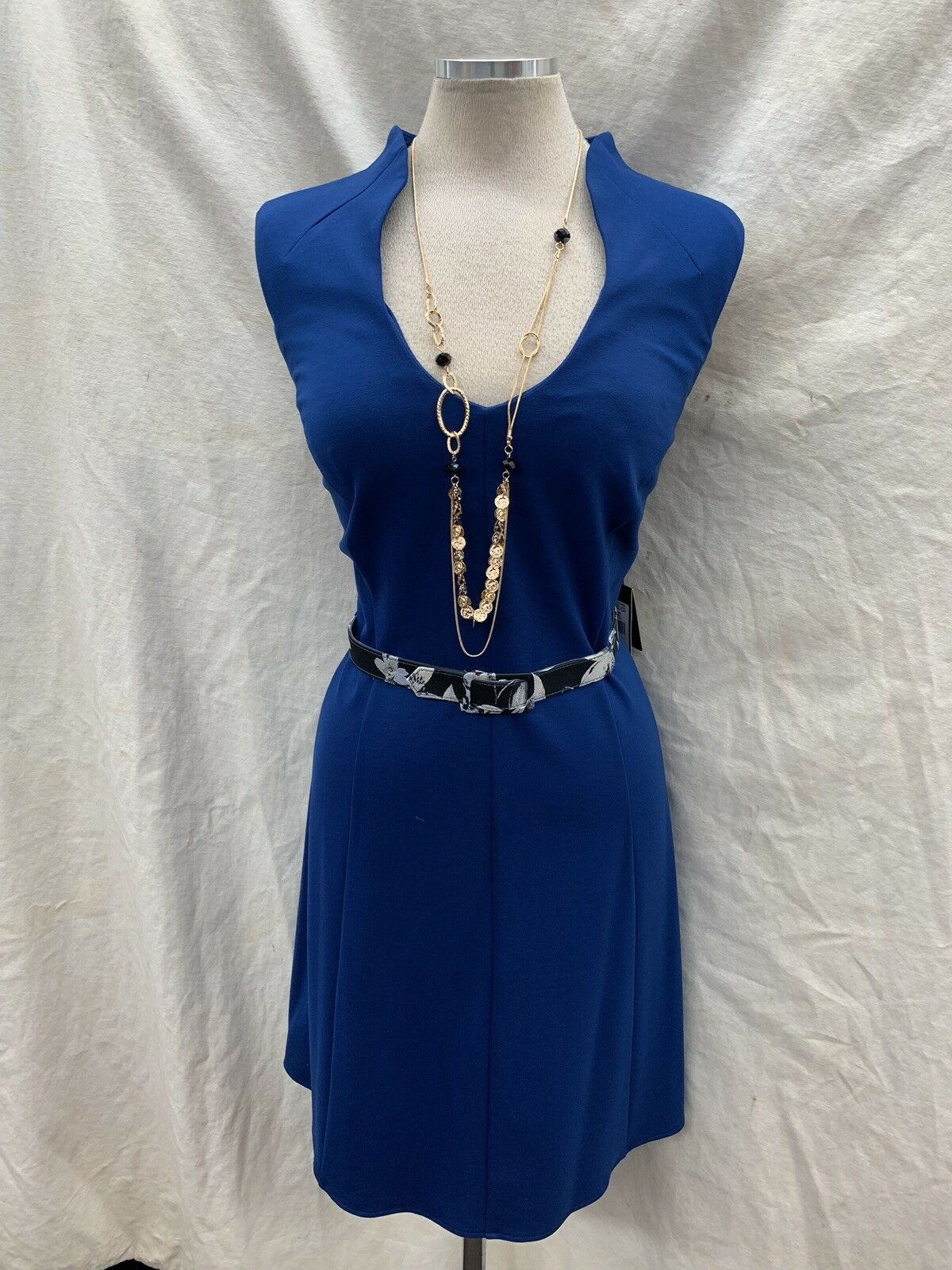 ADRIANNA PAPELL FIT&FLARE DRESS blueE SIZE 16W NEW WITH TAG RETAIL LENGTH40