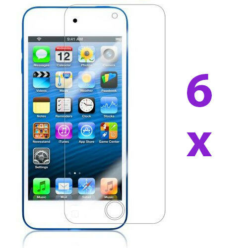 6X Clear Reusable LCD Screen Protector Cover Guard for iPod Touch 5 5th Gen 5G
