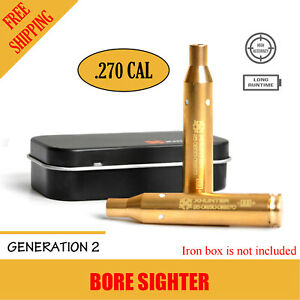 Cartridge Red Dot Sighter Laser Bore Sight Cal Boresighter For Rifle Shootin