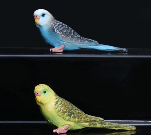 Fake Parrot Garden Bird PVC Mini Figurine Figure Model Toy Budgerigar Budgie