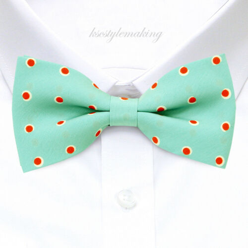 *BRAND NEW* RED/&WHITE UNIQUE POLKA DOT MINT TUXEDO RARE MENS CHIC BOW TIE B821