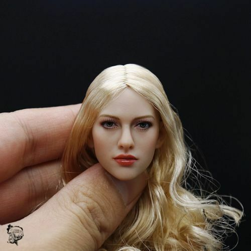 """KIMI TOYS 1//6 Carving Golden Hair Female Head Sculpt F 12/"""" Action Figures Body"""