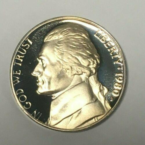 Roll of 40 Gem Proof BU S Jefferson Nickel Proof Coins 1980