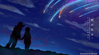 Poster 42x24 cm Your Name Kimi no Na wa Pelicula Anime Shojo Decor Otaku 15