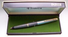 "PARKER "" 45 "" STANDARD DE LUXE ; in GRAY/STEEL/GOLD 14Kt NIB ! MADE IN U.S.A. !"