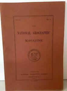 REPRINT-National-Geographic-Magazine-1888-Vol-1-No-1-Intro-Address-Charts