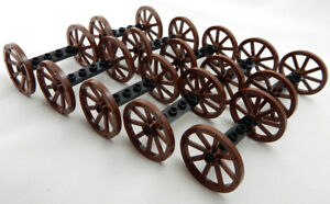 10 Sets of NEW LEGO WAGON WHEELS (20 tires/10 axles) vehicle lot 33 mm 1.25 in