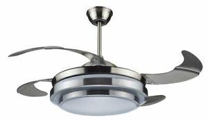 Ventilatore da soffitto 4 pale a scomparsa DCG VECRD47TL luce telecomando Rotex