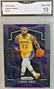 Gem-Mint-10-2019-Lebron-James-Panini-Prizm-Card-129-Lakers