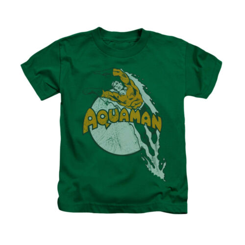 AQUAMAN SPLASH Licensed Boys Toddler Kids Graphic Tee Shirt  2T 3T 4T 4 5-6 7