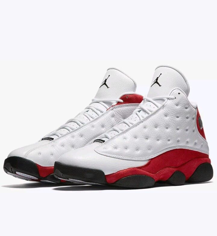 Nike air jordan retrò xiii 13 chicago cherry white team red numero 17 (414571-122
