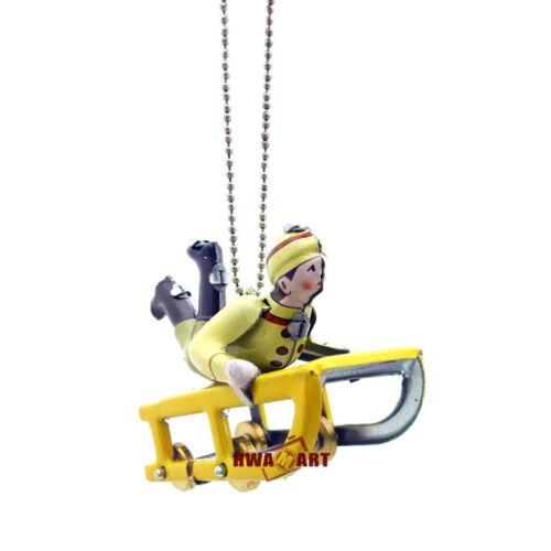 Noël Traîneau Widgets adulte collection antique tin toys Wind Up fer metal mod