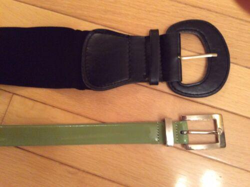 Via Spiga leather belt + rubber unbranded belt