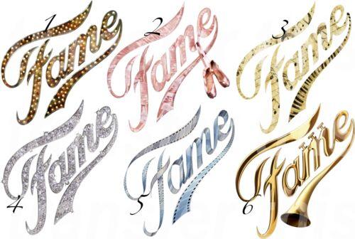 FAME LOGO STICKER WALL DECAL OR IRON ON TRANSFER TSHIRT FABRICS DANCE 80s LOT FD